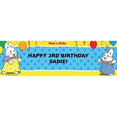 Max & Ruby Personalized Vinyl Banner