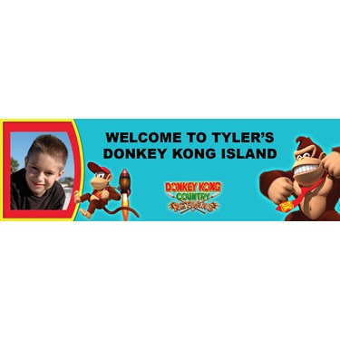 Donkey Kong Personalized Photo Vinyl Banner