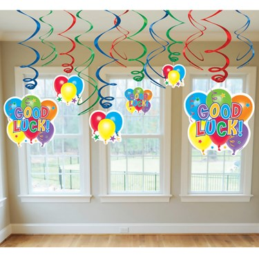 Good Luck Value Pack Swirl Decorations