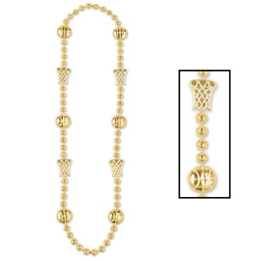 Basketball Beads - Gold
