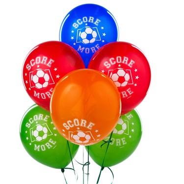 Soccer Latex Balloons Asst.