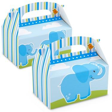 Blue Elephants Empty Favor Boxes