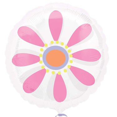 Pink Daisy Magicolor Foil Balloon