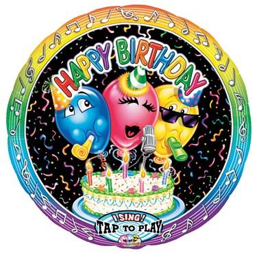 Happy Birthday Singatune Foil Balloon