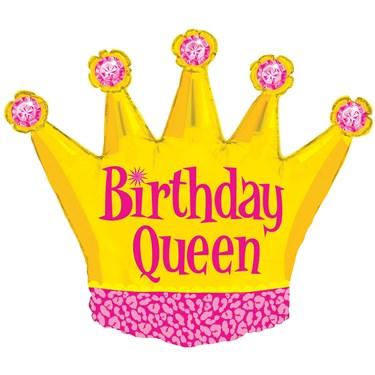 Birthday Queen Foil Balloon