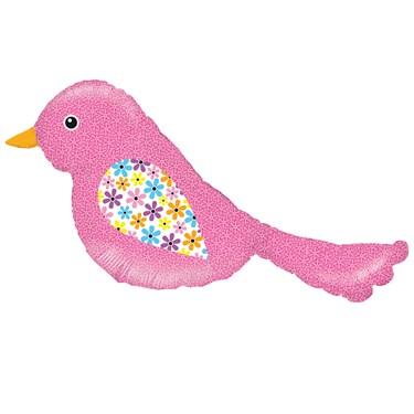 Pink Bird Shaped Foil Balloon