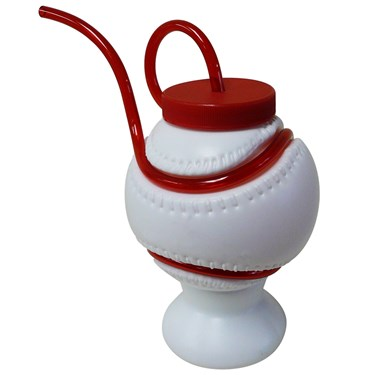 Baseball Krazy Straw Cup