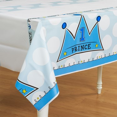 Lil' Prince 1st Birthday Plastic Tablecover