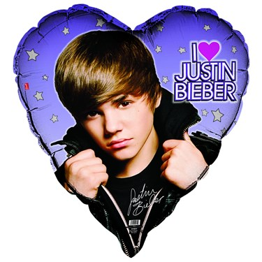 Justin Bieber Heart Shaped Foil Balloon