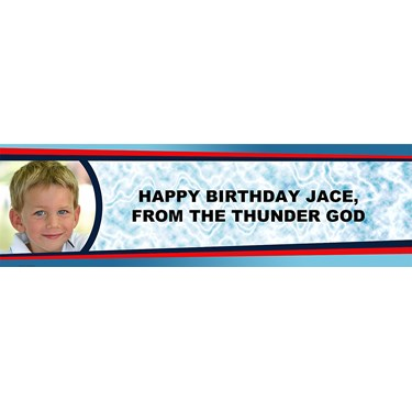 Thunder Strike Personalized Photo Banner
