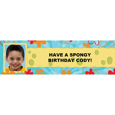 Spongy Personalized Photo Banner