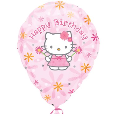 Hello Kitty Birthday Customized Foil Balloon