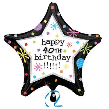 Birthday Confetti Star Customized Foil Balloon