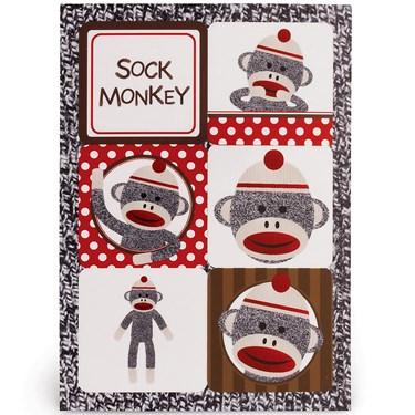 Sock Monkey Red Sticker Sheets