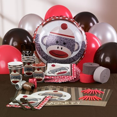 Sock Monkey Red - Personalized Party Theme
