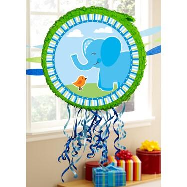 Blue Elephants Pull-String Pinata