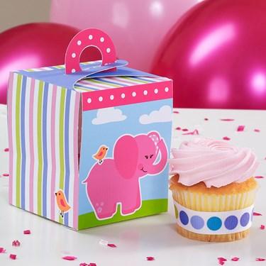Pink Elephants Cupcake Boxes