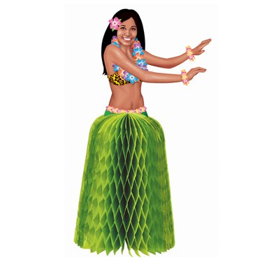 Hula Girl Mini Honeycomb Centerpieces