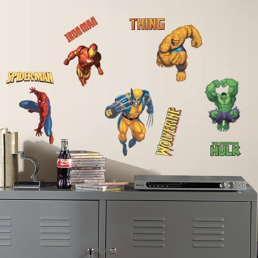 Marvel Heroes Peel and Stick Wall Decals