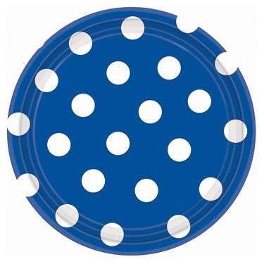 Blue Polka Dot Dessert Plates