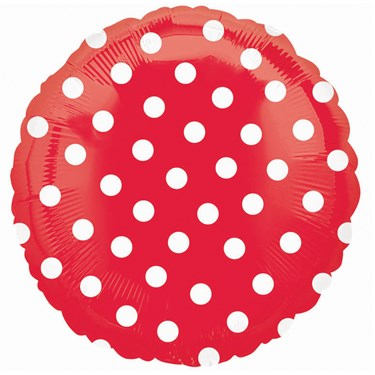 Red Polka Dot Foil Balloon