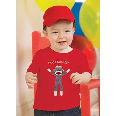 Sock Monkey Red T-Shirt