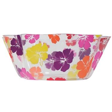 """8"""" Luau Hibiscus Fluted Bowl"""