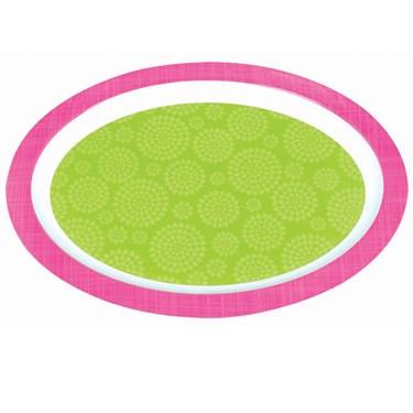 Green & Pink Printed Platter