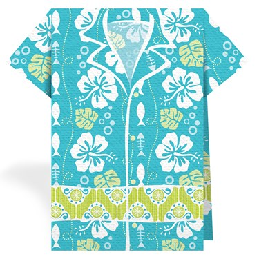 Hawaiian Fish Blue Stand Up 3D Lunch Napkins