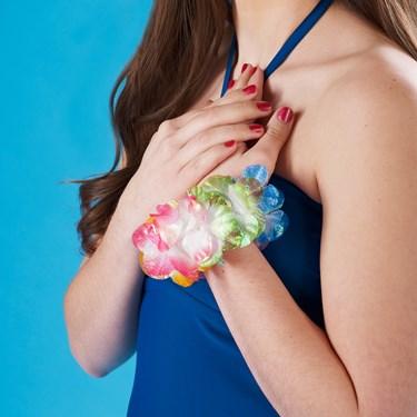 Silk 'N Petals Iridescent Wristlet / Anklet