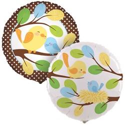 Sweet Tweet Bird Blue Foil Balloon