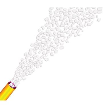 White Confetti Cannon