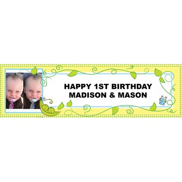 Two Peas in a Pod Personalized Photo Banner