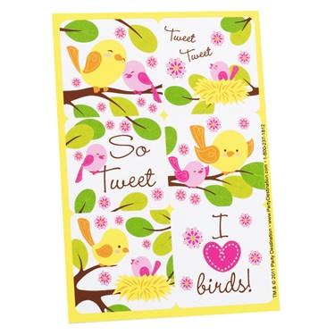 Sweet Tweet Bird Pink - Stickers