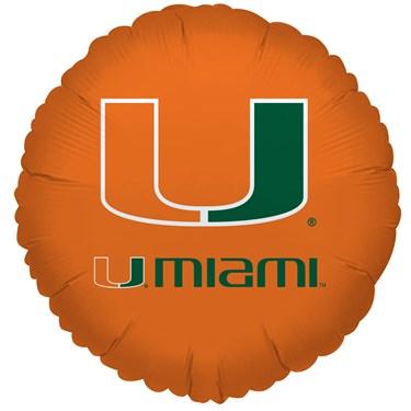 Miami Hurricanes Foil Balloon