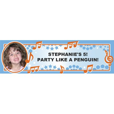 Dancing Notes - Personalized Photo Banner