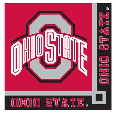 Ohio State Buckeyes Beverage Napkins