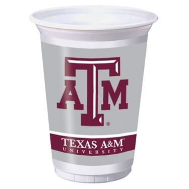 Texas A & M Aggies 20 oz. Plastic Cups