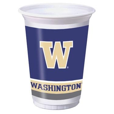 Washington Huskies 20 oz. Plastic Cups