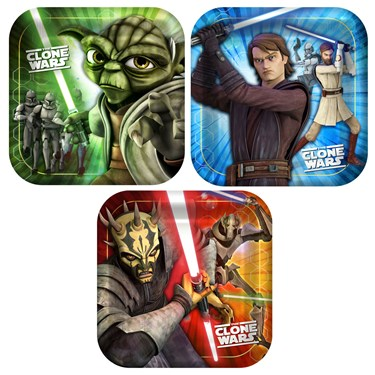 Star Wars: The Clone Wars Opposing Forces Square Dessert Plates