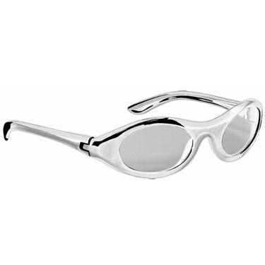 Metallic Oval Glasses - Silver