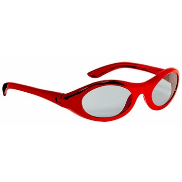 Metallic Oval Glasses - Red