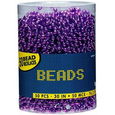 Bead Necklaces - Purple