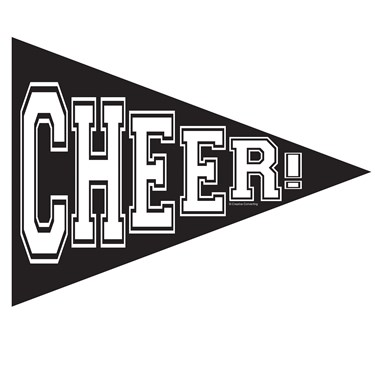 School Spirit Pennant Banner - Black