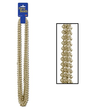 Party Beads - Gold