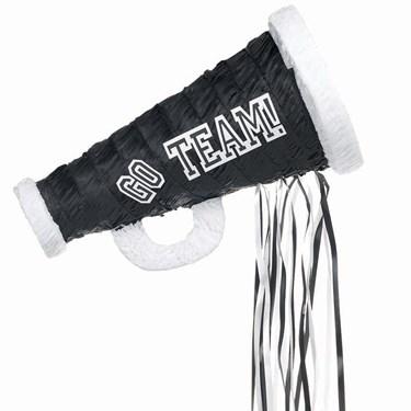 Black Megaphone Pull-String Pinata