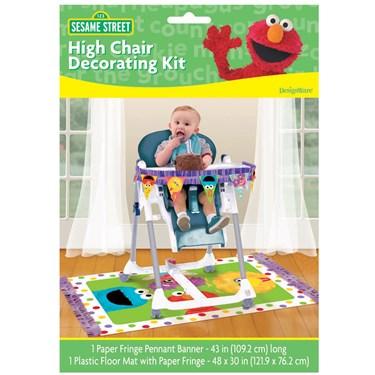Sesame Street 1st Birthday - High Chair Decorating Kit