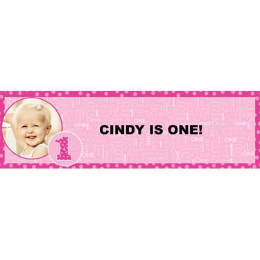 Everything One Girl Personalized Photo Vinyl Banner