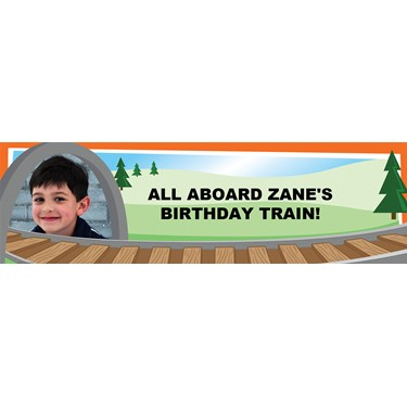 Dino Choo-Choo Personalized Photo Banner