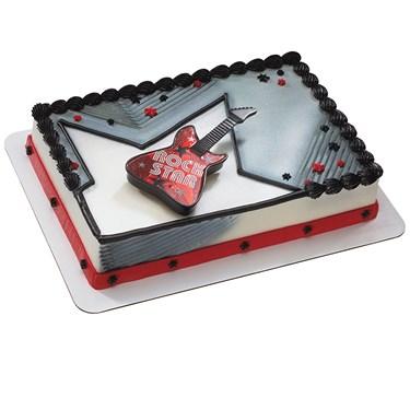 80's Rockstar Guitar Cake Topper